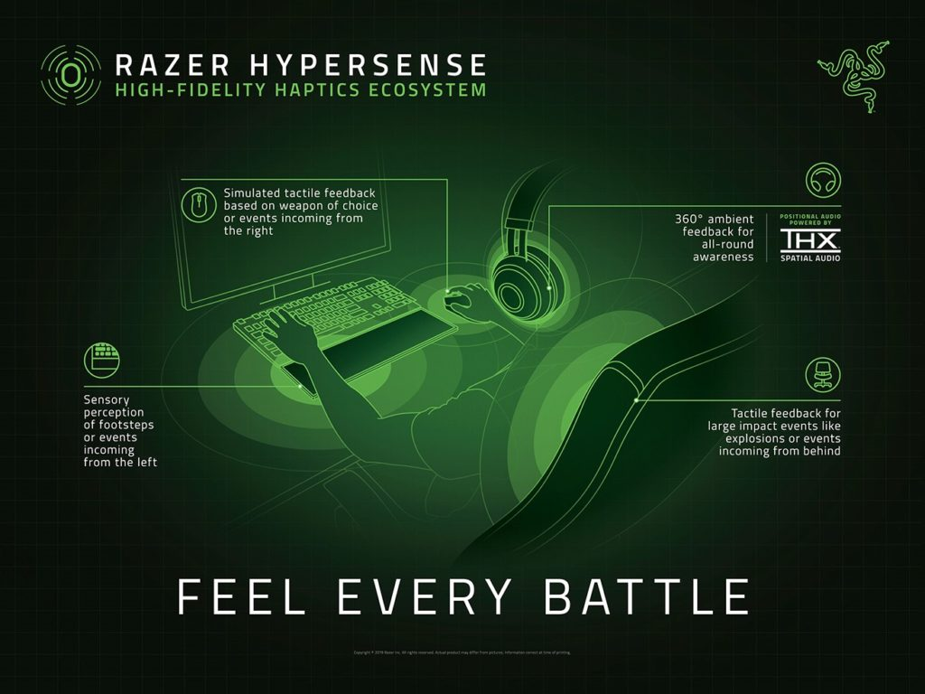 Awesome Razer Hypersense To Champion Next Level Tactile Gaming Short Links Chair Design For Home Short Linksinfo
