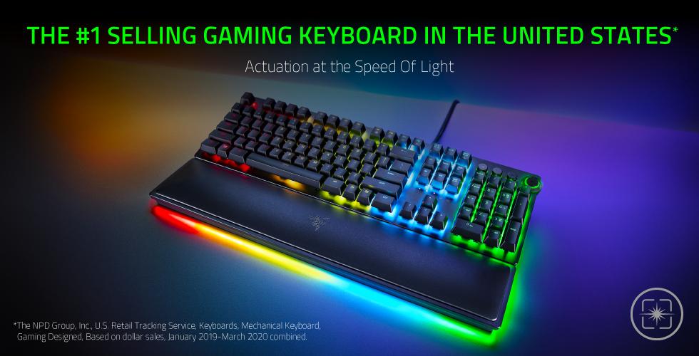 Razer Huntsman Elite Is The 1 Best Selling Gaming Keyboard In The Us Razer Press